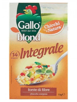 GALLO RISO BLOND INTEGRALE KG.1