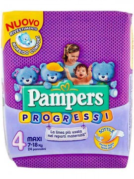 PAMPERS PANN.PROGRESSI N°4 MAXI 24