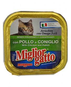 MIGLIOR GATTO VASCH.POLLO/CONIGLIO GR.100