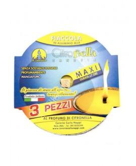 NAPPI 3 MAXI TEA LIGHT CITRONELLA D.6