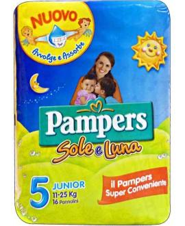 PAMPERS SOLE E LUNA JUNIOR N°5 PZ.17
