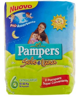 PAMPERS SOLE E LUNA N.6 EX.LARGE PZ14